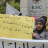 النسائية الديمقراطية للجبهة الديمقراطية تتظاهر دفاعاً عن مخيم اليرموك